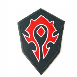WOW World Horde Forces Embroidery Patch Badge Armband Morale Tactical Patches Black