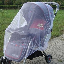 Portable Baby Stroller Safe Care Mosquito Insect Net Safe Mesh Pushchair Protector White