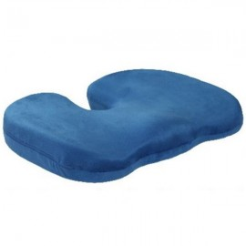 Orthopedics Seat Solution Cushion Memory Foam Back Ache Release Royalblue