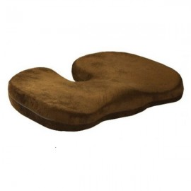 Orthopedics Seat Solution Cushion Memory Foam Back Ache Release Dark Brown