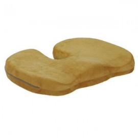 Orthopedics Seat Solution Cushion Memory Foam Back Ache Release Light Brown