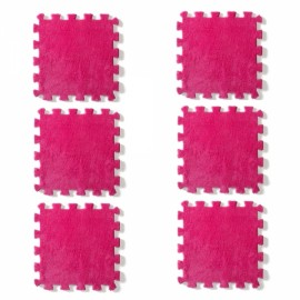 6pcs Baby Play Mat Crawling Mat Kids Room Decoration Foam Mats EVA Blankets Carpets Rose Red