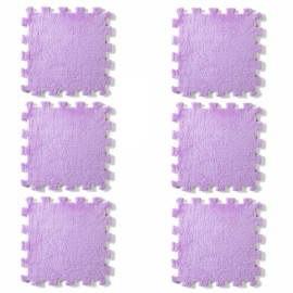 6pcs Baby Play Mat Crawling Mat Kids Room Decoration Foam Mats EVA Blankets Carpets Purple