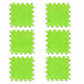 6pcs Baby Play Mat Crawling Mat Kids Room Decoration Foam Mats EVA Blankets Carpets Green