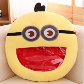 Cute Cartoon Creative Visual Hand Warmer Plush Pillow Toy Yellow Minions