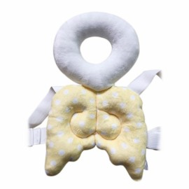 Baby Head Protection Pad Toddler Headrest Pillow Cute Wings Nursing Drop Resistance Cushion Angel Shape Yellow