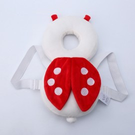 Baby Head Protection Pad Toddler Headrest Pillow Cute Wings Nursing Drop Resistance Cushion Ladybird Shape