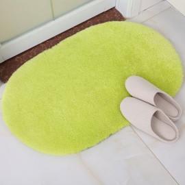 Soft Floor Mat Oval Bedroom Carpet Area Rug for Living Room Green