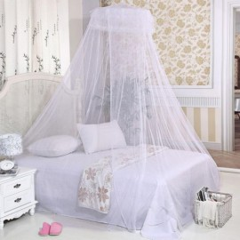 Round Insect Bed Mosquito Net Mesh Hung  Princess Bedding Tent White