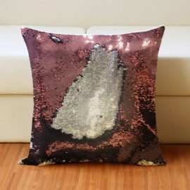 Reversible Sequin Mermaid Pillowcase Magical Color Changing Pillow Cushion Cover Home Car Decor - Pink+Silver