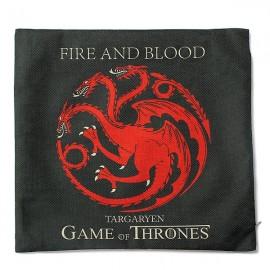 Honana WX-118 Thrones Games Pillow Case Throw Car Sofa Seat Cushion Cover - House Targaryen Deep Gray Printed