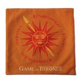 Honana WX-118 Thrones Games Pillow Case Throw Car Sofa Seat Cushion Cover - House Nymeros Martell Orange Printed