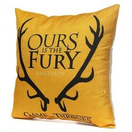 Honana WX-118 Thrones Games Pillow Case Throw Car Sofa Seat Cushion Cover - House Baratheon of King's Landing Yellow Printed