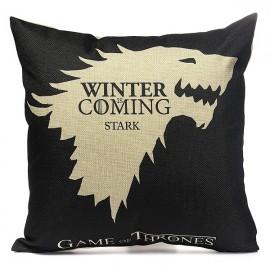 Honana WX-118 Thrones Games Pillow Case Throw Car Sofa Seat Cushion Cover - House Start Black Printed