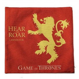 Honana WX-118 Thrones Games Pillow Case Throw Car Sofa Seat Cushion Cover - House Lannister Red Printed