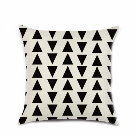 Simple Geometric Designs Cotton Linen Decorative Throw Pillow Cover 45x45cm - Pattern F
