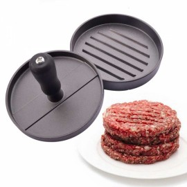 NEJE ZJ0074-1 Kitchen Hamburger Press Meat Patty Mold Maker Silver & Gray