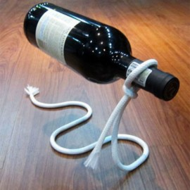 New Magical Lasso Wine Bottle Holder Rope Rack White