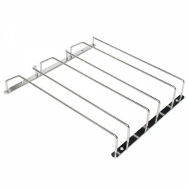 3-Row Stainless Steel Wine Glass Rack Hanger Bar Home Cup Glass Holder Silver