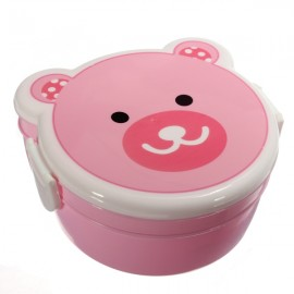 Cute Cartoon Pig Pattern Two-Layer Plastic Microwaveable Children