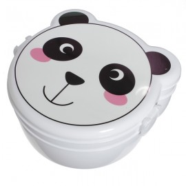 Microwaveable Cute Panda Pattern Two Layers Cartoon Plastic Lunch Meal Bento Food Box with Spoon