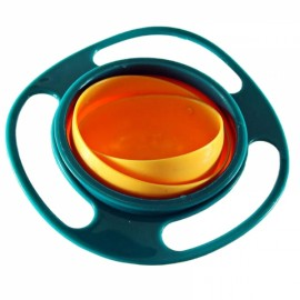 Creative Fantastic UFO Gyroscope Style 360-Degree Rotation Never-Spill-Food Kids Bowl Green