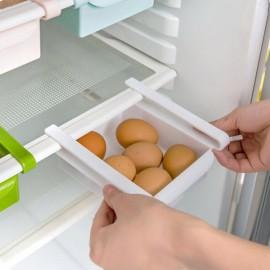 Pull-and-Push Style Plastic Kitchen Refrigerator Fridge Storage Rack Freezer Shelf Holder Kitchen Organizer White