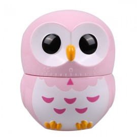 Cute Cartoon Owl Shape 60-Minute Mechanical Kitchen Timer Pink
