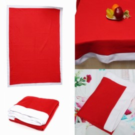 Christmas Rectangle Table Cloth Cover Home Kitchen Party Decoration 178x132cm Red