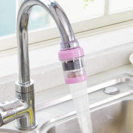 Mini Stone Magnetization Water Purifier Kitchen Bathroom Faucet Tap Water Filter Pink
