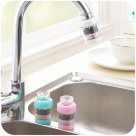 Mini Stone Magnetization Water Purifier Kitchen Bathroom Faucet Tap Water Filter White