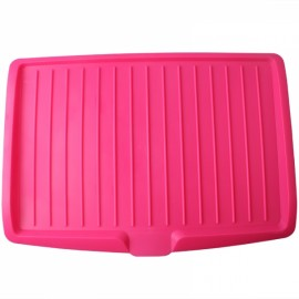 Dishes Sink Drain Pallets Plastic Filter Plate Storage Rack Kitchen Vegetable Fruit Shelving Board Rose Red