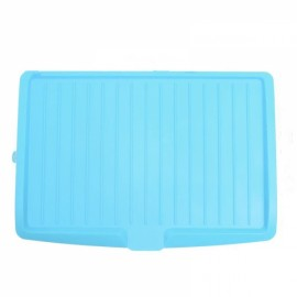 Dishes Sink Drain Pallets Plastic Filter Plate Storage Rack Kitchen Vegetable Fruit Shelving Board Blue