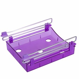 Multipurpose Fridge Storage Sliding Drawer Refrigerator Organizer Space Saver Shelf Purple