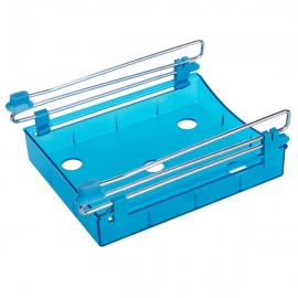 Multipurpose Fridge Storage Sliding Drawer Refrigerator Organizer Space Saver Shelf Blue