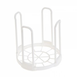 Kitchen Bowl Dish Plate Rack Plastic Standing Drain Rack Removable Dinnerware Storage Rack White