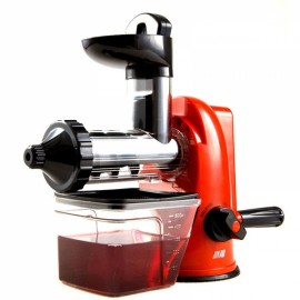 Household Hand Operated Manual Juice Extractor Fruit Juicer Maker Orange Red