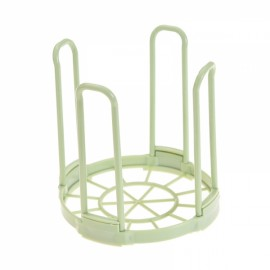 Kitchen Bowl Dish Plate Rack Plastic Standing Drain Rack Removable Dinnerware Storage Rack Green