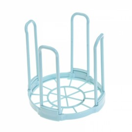 Kitchen Bowl Dish Plate Rack Plastic Standing Drain Rack Removable Dinnerware Storage Rack Blue