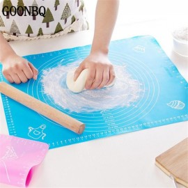 50*40cm Silicone Mat Baking Cake Rolling Kneading Mat Baking Mat with Scale Cooking Plate Kitchen Tools Blue