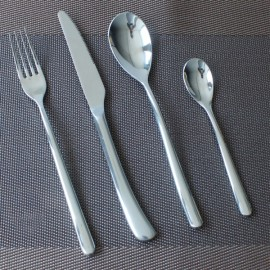 4pcs Stainless Steel Flatware Set Kitchen Tableware Knife Fork Spoon Tea Spoon Cutlery Set Silver