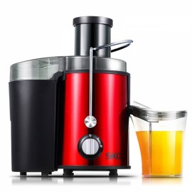 SKG Electric Multifunctional Stainless Steel Wide Mouth Juice Extractor Juicer Red