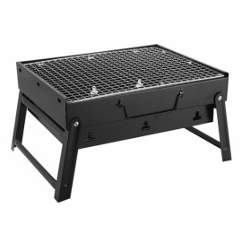 Portable Outdoor Picnic Stainless Steel Barbecue BBQ  Small Size Black