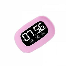 LCD Digital Touch Screen Kitchen Timer Practical Cooking Count down Alarm Clock Pink