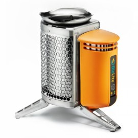 BioLite Wood Burning Camp Stove Power Furnace First Generation Orange & Silver