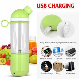 Stylish electrical juicer USB portable juicer mini size chargeable juicer coffee maker - GREEN
