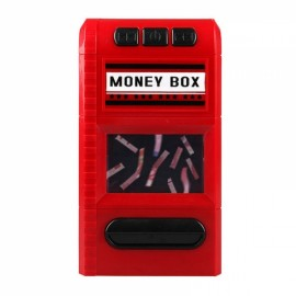 Creative Design Cartoon Piggy Bank Money Box Simulation Cash Grinders Saving Cash Box Music Shredder Piggy Bank Red