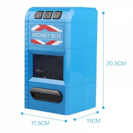 Creative Design Cartoon Piggy Bank Money Box Simulation Cash Grinders Saving Cash Box Music Shredder Piggy Bank Blue