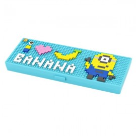 Pencil Case Diamond Building Blocks Box Mini DIY Bricks Gift For Children-Minion