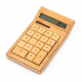 12 Digits Mini Bamboo Solar Automatically Powers Off Calculator